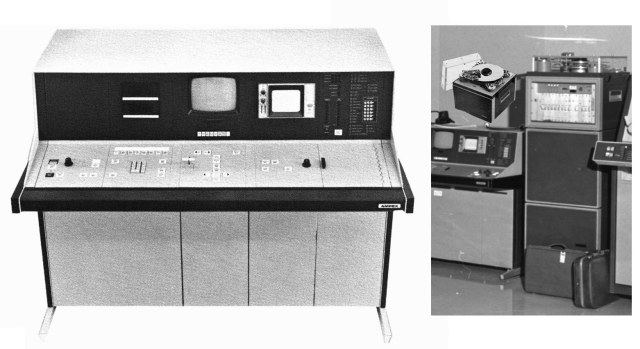 The HS-200 Teleproduction System Control Console (2x view of disc)