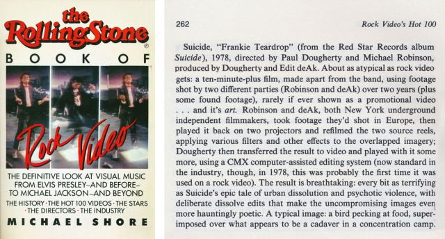 Rolling Stone Book of Reck Video by Michael Shore 1984